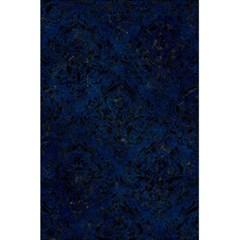 Damask1 Black Marble & Blue Grunge (r) 5 5  X 8 5  Notebook by trendistuff