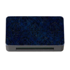 Damask1 Black Marble & Blue Grunge (r) Memory Card Reader With Cf by trendistuff