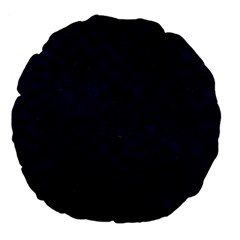 Damask1 Black Marble & Blue Grunge (r) Large 18  Premium Flano Round Cushion  by trendistuff
