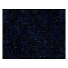 Damask1 Black Marble & Blue Grunge Jigsaw Puzzle (rectangular) by trendistuff