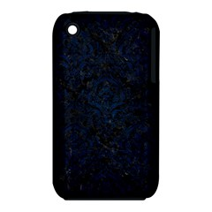 Damask1 Black Marble & Blue Grunge Apple Iphone 3g/3gs Hardshell Case (pc+silicone) by trendistuff