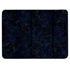 Damask1 Black Marble & Blue Grunge Samsung Galaxy Tab 7  P1000 Flip Case by trendistuff