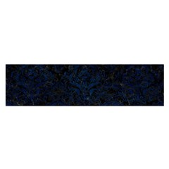 Damask1 Black Marble & Blue Grunge Satin Scarf (oblong) by trendistuff