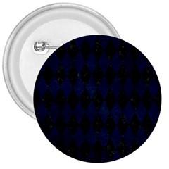 Diamond1 Black Marble & Blue Grunge 3  Button by trendistuff
