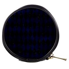 Diamond1 Black Marble & Blue Grunge Mini Makeup Bag by trendistuff