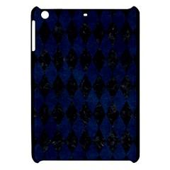 Diamond1 Black Marble & Blue Grunge Apple Ipad Mini Hardshell Case by trendistuff
