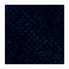 Circles3 Black Marble & Blue Grunge (r) Medium Glasses Cloth (2 Sides) by trendistuff