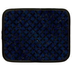 Circles3 Black Marble & Blue Grunge (r) Netbook Case (xl) by trendistuff