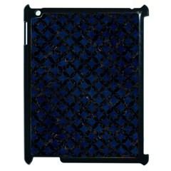 Circles3 Black Marble & Blue Grunge (r) Apple Ipad 2 Case (black) by trendistuff