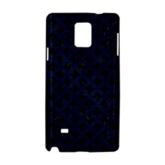 Circles3 Black Marble & Blue Grunge Samsung Galaxy Note 4 Hardshell Case by trendistuff