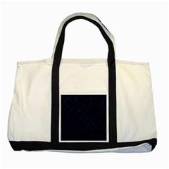 Circles2 Black Marble & Blue Grunge (r) Two Tone Tote Bag by trendistuff