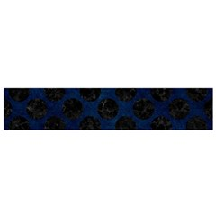 Circles2 Black Marble & Blue Grunge (r) Flano Scarf (small) by trendistuff
