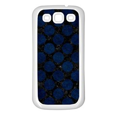 Circles2 Black Marble & Blue Grunge Samsung Galaxy S3 Back Case (white) by trendistuff