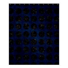 Circles1 Black Marble & Blue Grunge (r) Shower Curtain 60  X 72  (medium) by trendistuff