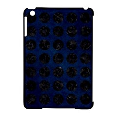 Circles1 Black Marble & Blue Grunge (r) Apple Ipad Mini Hardshell Case (compatible With Smart Cover) by trendistuff
