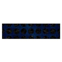 Circles1 Black Marble & Blue Grunge (r) Satin Scarf (oblong) by trendistuff