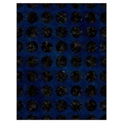 Circles1 Black Marble & Blue Grunge (r) Drawstring Bag (large) by trendistuff