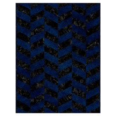 Chevron1 Black Marble & Blue Grunge Drawstring Bag (large) by trendistuff
