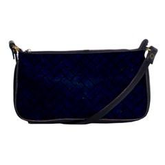 Brick2 Black Marble & Blue Grunge (r) Shoulder Clutch Bag by trendistuff