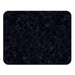 Brick2 Black Marble & Blue Grunge Double Sided Flano Blanket (large) by trendistuff