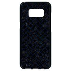 Brick2 Black Marble & Blue Grunge Samsung Galaxy S8 Black Seamless Case