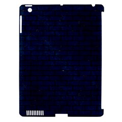 Brick1 Black Marble & Blue Grunge (r) Apple Ipad 3/4 Hardshell Case (compatible With Smart Cover) by trendistuff