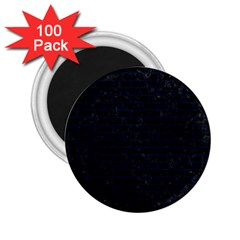 Brick1 Black Marble & Blue Grunge 2 25  Magnet (100 Pack)  by trendistuff