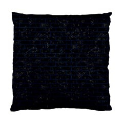 Brick1 Black Marble & Blue Grunge Standard Cushion Case (one Side) by trendistuff