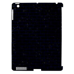 Brick1 Black Marble & Blue Grunge Apple Ipad 3/4 Hardshell Case (compatible With Smart Cover) by trendistuff