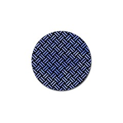 Woven2 Black Marble & Blue Watercolor Golf Ball Marker (4 Pack) by trendistuff