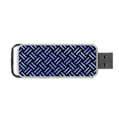 Woven2 Black Marble & Blue Watercolor Portable Usb Flash (two Sides) by trendistuff