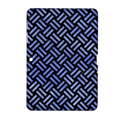 Woven2 Black Marble & Blue Watercolor Samsung Galaxy Tab 2 (10 1 ) P5100 Hardshell Case  by trendistuff