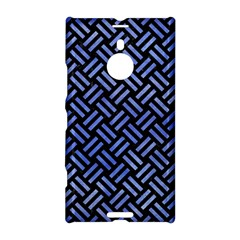 Woven2 Black Marble & Blue Watercolor Nokia Lumia 1520 Hardshell Case by trendistuff