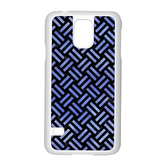 Woven2 Black Marble & Blue Watercolor Samsung Galaxy S5 Case (white) by trendistuff
