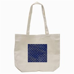 Woven2 Black Marble & Blue Watercolor (r) Tote Bag (cream) by trendistuff