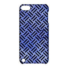 Woven2 Black Marble & Blue Watercolor (r) Apple Ipod Touch 5 Hardshell Case With Stand by trendistuff