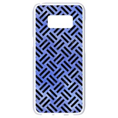 Woven2 Black Marble & Blue Watercolor (r) Samsung Galaxy S8 White Seamless Case by trendistuff
