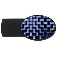 Woven1 Black Marble & Blue Watercolor Usb Flash Drive Oval (4 Gb) by trendistuff
