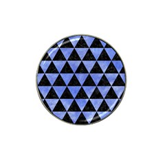 Triangle3 Black Marble & Blue Watercolor Hat Clip Ball Marker (4 Pack) by trendistuff