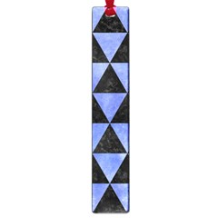 Triangle3 Black Marble & Blue Watercolor Large Book Mark by trendistuff
