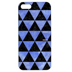 Triangle3 Black Marble & Blue Watercolor Apple Iphone 5 Hardshell Case With Stand by trendistuff