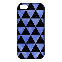Triangle3 Black Marble & Blue Watercolor Apple Iphone 5c Hardshell Case by trendistuff