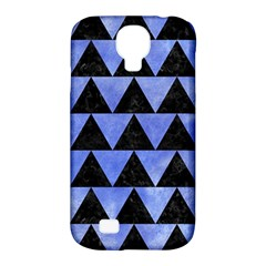 Triangle2 Black Marble & Blue Watercolor Samsung Galaxy S4 Classic Hardshell Case (pc+silicone) by trendistuff