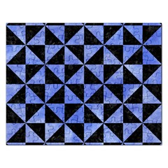 Triangle1 Black Marble & Blue Watercolor Jigsaw Puzzle (rectangular) by trendistuff