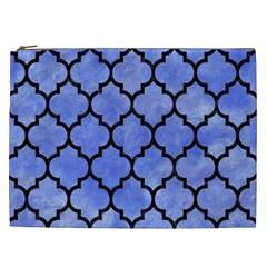 Tile1 Black Marble & Blue Watercolor (r) Cosmetic Bag (xxl) by trendistuff