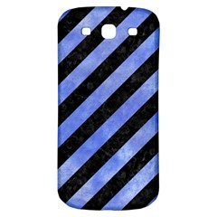 Stripes3 Black Marble & Blue Watercolor Samsung Galaxy S3 S Iii Classic Hardshell Back Case by trendistuff