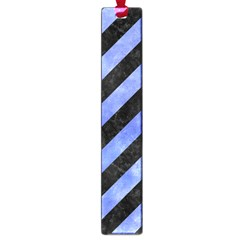 Stripes3 Black Marble & Blue Watercolor Large Book Mark by trendistuff