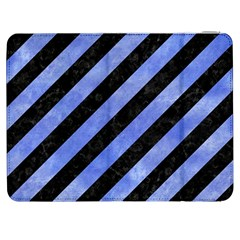Stripes3 Black Marble & Blue Watercolor Samsung Galaxy Tab 7  P1000 Flip Case by trendistuff