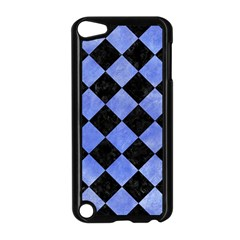 Square2 Black Marble & Blue Watercolor Apple Ipod Touch 5 Case (black) by trendistuff