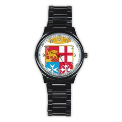 Coat Of Arms Of The Italian Navy  Stainless Steel Round Watch by abbeyz71